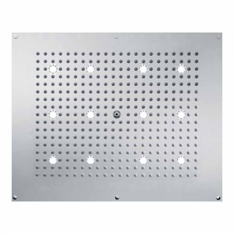Soffione doccia design moderno con getto pioggia e luci LED
