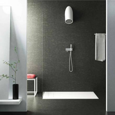 Soffione doccia moderno a parete in Luxolid fatto in Italia, Rubano