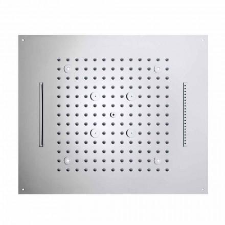 Bossini Soffione doccia moderno a quattro funzioni con luci LED Dream