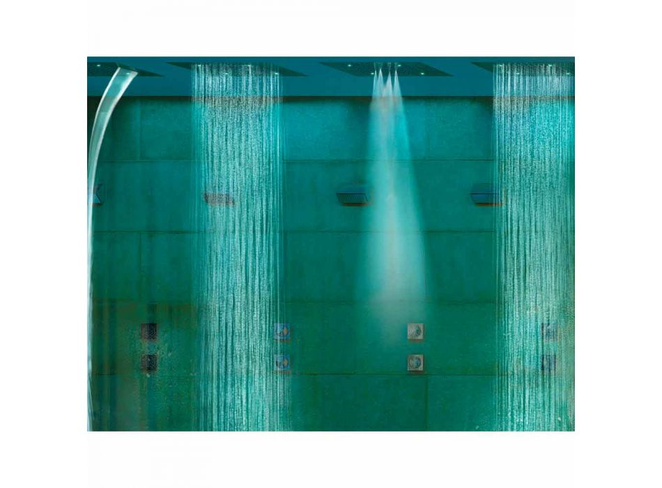Soffione doccia moderno a quattro funzioni e cromoterapia Dream
