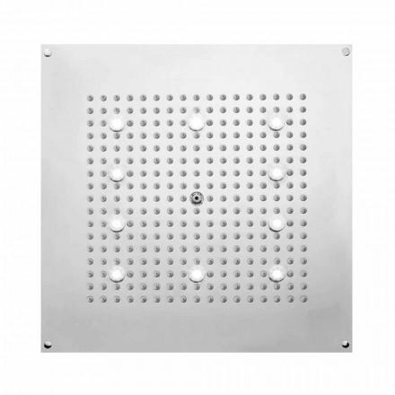 Bossini Soffione doccia quadrato con getto pioggia e luci LED