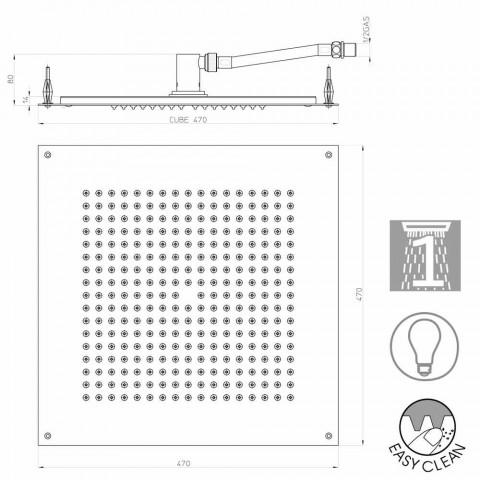 Soffione per doccia con inserti in Swarovski Bossini Cube