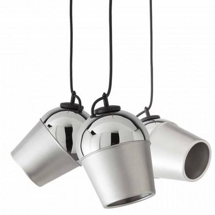 Sospensione con tre lampade in metallo Magnet - Toscot