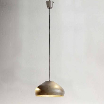 Sospensione di Design Acciaio Anticato Diametro 450 mm – Materia Aldo Bernardi