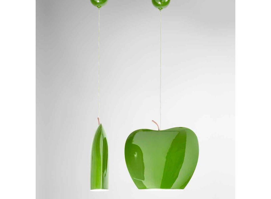 Sospensione in Ceramica di Design a Forma di Mela – Fruits Aldo Bernardi