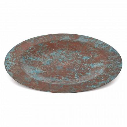 Sottopiatto in Rame Verde o Imbrunito Stagnato a Mano 6 Pezzi 28 cm - Rocho