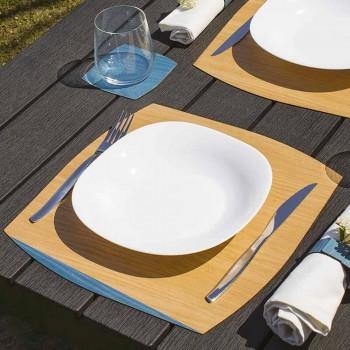 Sottopiatto Moderno Quadrato in Legno Rovere Made in Italy - Abramo