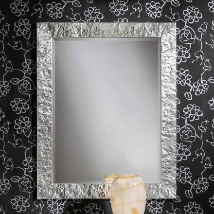Specchiera a muro argento oro a mano in legno ayous made Italy Antonio