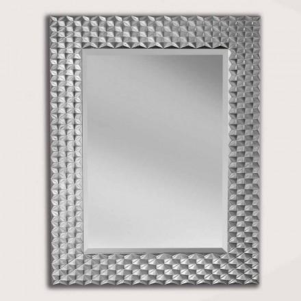Specchiera da Parete in Legno Stile Moderno Fatta a Mano in Italia - Giuseppe