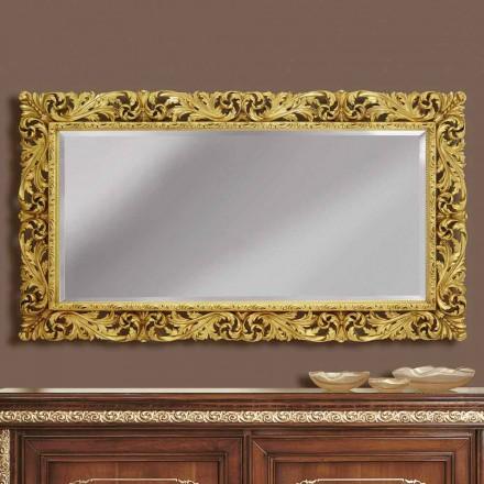 Specchiera a muro in legno linee moderne fatta a mano in Italia Alex