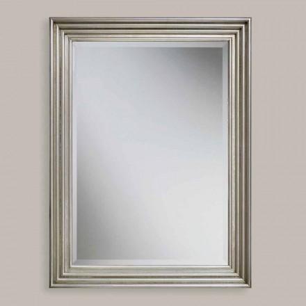 Specchiera a muro legno a mano oro,argento prodotta in Italia Stefania