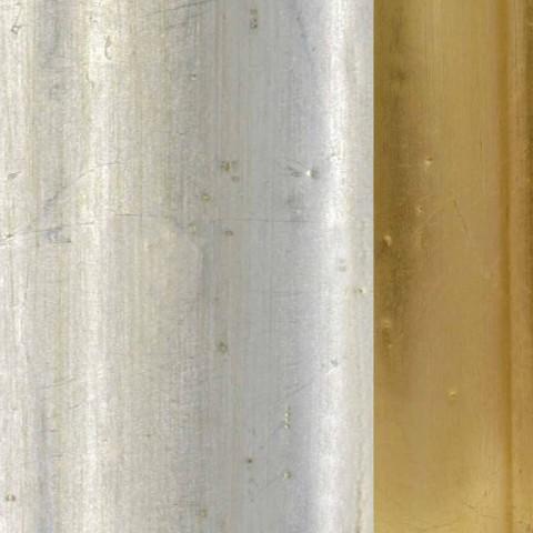 Specchiera a muro legno abete,fregio resina made Italy a mano Elia