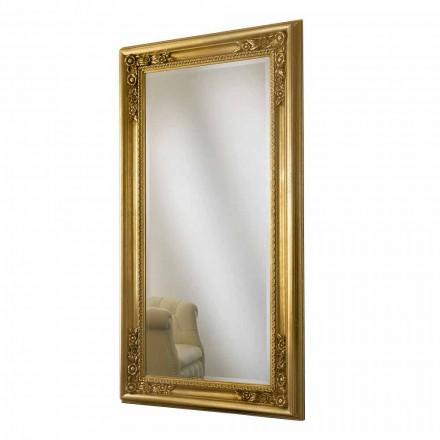 Specchiera a muro oro,argento fatta a mano in legno made Italy Michele