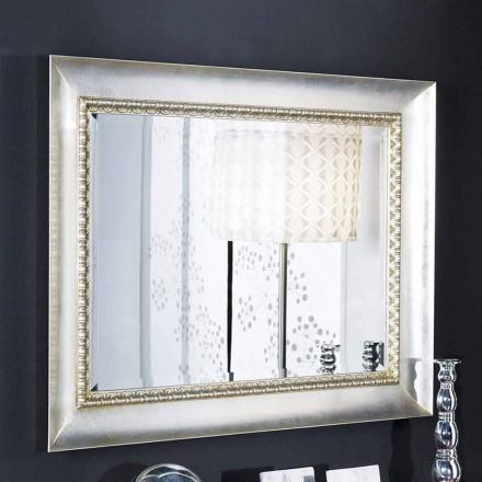 Specchiera a muro rettangolare legno ayous a mano made in Italy Igor