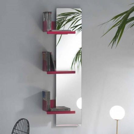 Specchiera a Parete e 3 Mensole in Metallo Colorate Design di Lusso - Noelle