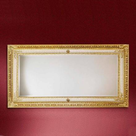 Specchiera a parete in legno rettangolare fatta in Italia Raffaello