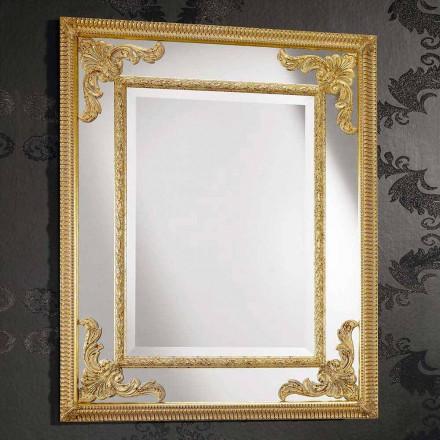 Specchiera da Parete in Legno Stile Barocco Fatta a Mano in Italia - Valentino
