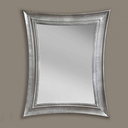 Specchiera a parete legno rettangolare fatta a mano made Italy Sandro