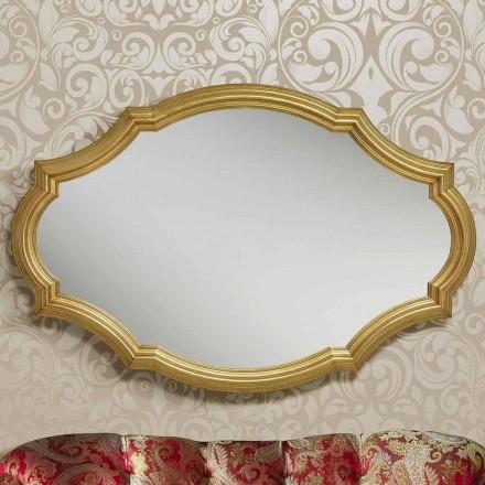 Specchiera da muro argento o oro moderna in legno made in Italy Davide