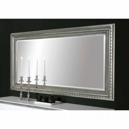Specchiera da muro legno a mano design moderno made in Italy Claudio
