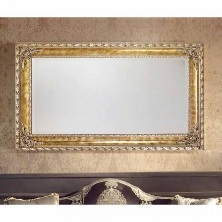 Specchiera da muro rettangolare linee moderne legno made Italy Umberto