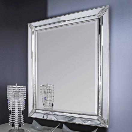 Specchiera da parete argento,oro in legno fatta mano in Italia Samuele