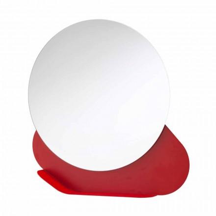 Specchiera da Parete con Mensola in Metallo in Vari Colori Made in Italy - Hera