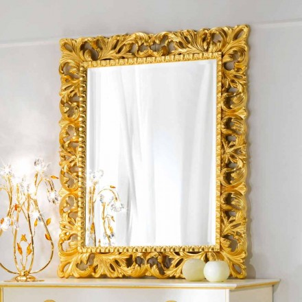 Specchiera da parete design classico Ives, 100x120 cm