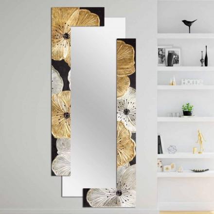 Specchiera da parete di design a doppia elle fatta in Italia Daiano