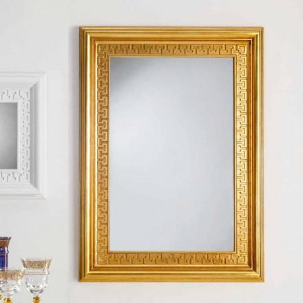Specchiera da parete di design con cornice in legno Viva, 96x132 cm