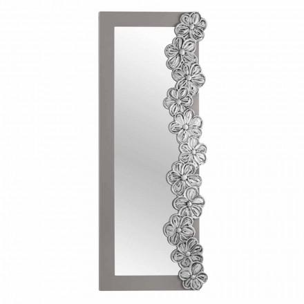 Specchiera da parete di design decorata a mano made in Italy Senapina