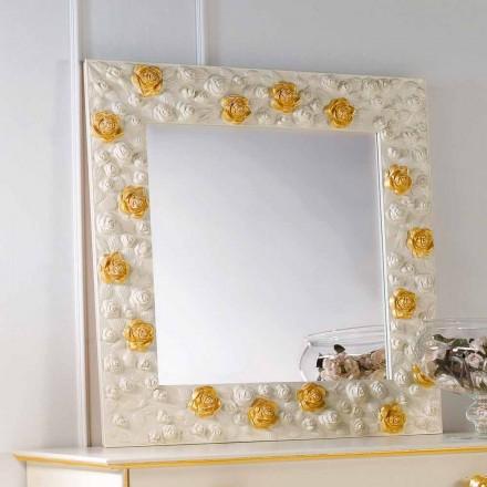 Specchiera da parete di design decorata con rose Flower