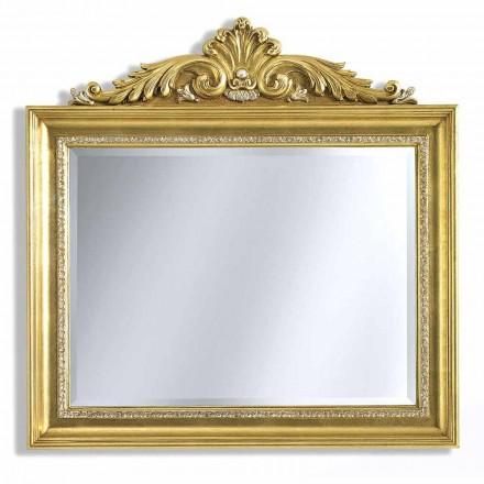 Speccchiera da Parete Rettangolare in Legno Barocco Made in Italy - Ivan