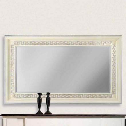 Specchiera da parete in legno di ayous fatta a mano in Italia Maicol