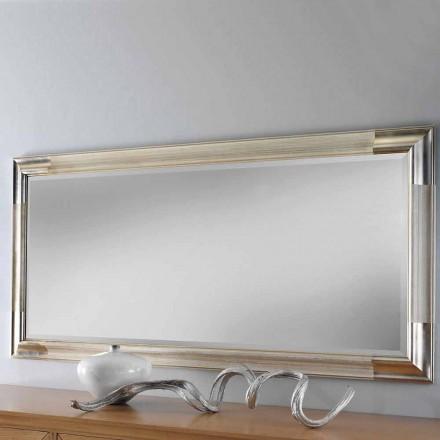 Specchiera da Parete Rettangolare in Legno Stile Moderno Made in Italy - Piera