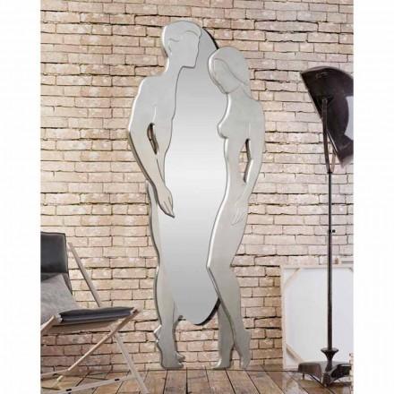 Specchiera da parete in Mdf design moderno Man&Woman sagomata a mano