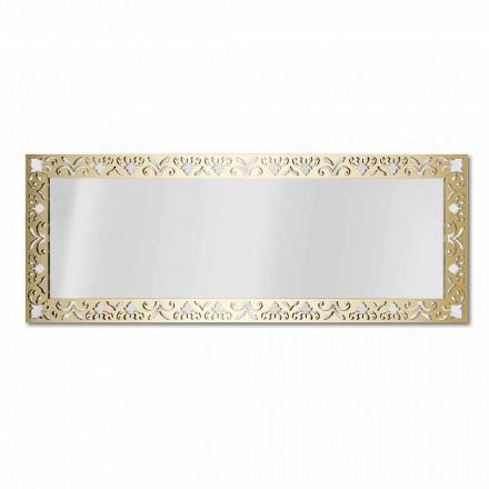 Specchiera da Parete in Plexiglass Oro, Argento o Bronzo con Cornice - Nettare