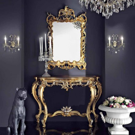 Specchiera da parete legno e consolle piano mdf made in Italy Andrea