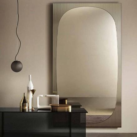 Specchiera da Parete Moderna con Specchio Color Bronzo Made in Italy – Bandolero