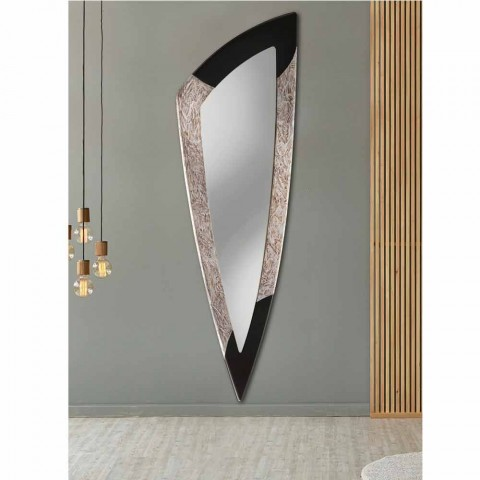 Specchiera da parete moderna in foglia argento fatta in Italia Urbino