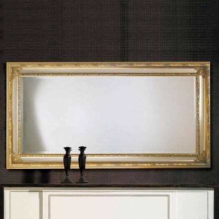 Specchiera da parete moderna in legno di ayous fatta in Italia Armando