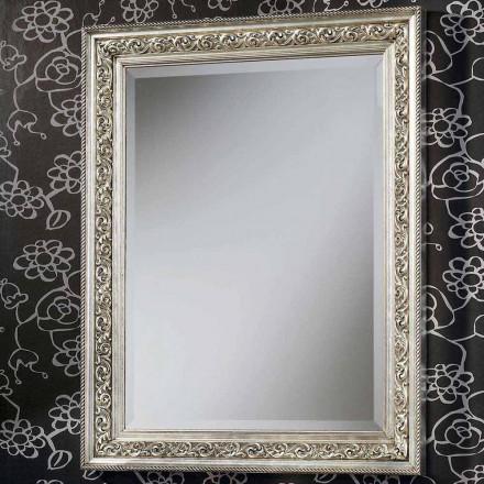Specchiera da parete moderna in legno fatta a mano in Italia Piero