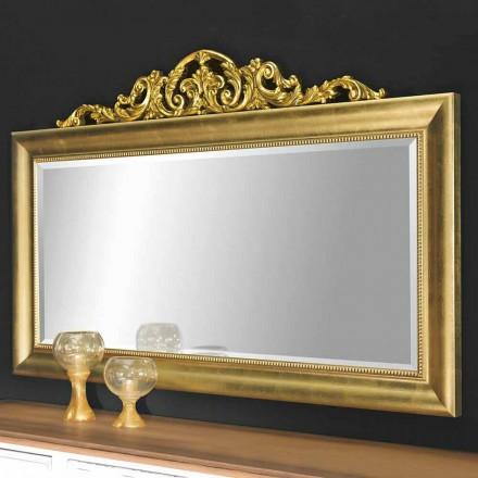 Specchiera da Parete Rettangolare Barocco in Legno Made in Italy - Kevin