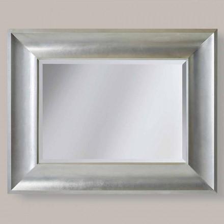 Specchiera da parete oro,argento in legno di ayous made Italy Silvio