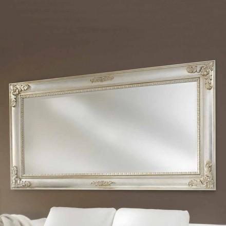 Specchiera da parete realizzata a mano legno ayous made Italy Alessio
