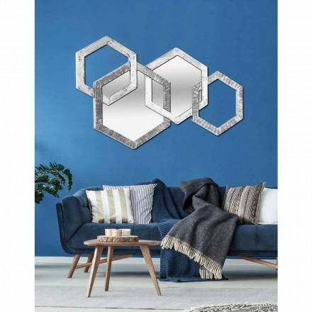 Specchiera da parete sagomata di design moderno made in Italy Crigi