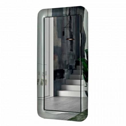 Specchiera Rettangolare Lunga con Cornice Effetto Cristallo Made in Italy - Loop