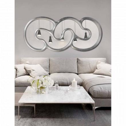 Specchiera di design da parete fatta a mano in Italia Teo