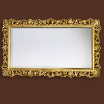 Specchiera da Parete Rettangolare Stile Barocco in Legno Made in Italy - Nicol