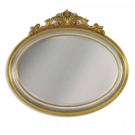 Specchiera da Parete Ovale Stile Barocco Prodotta a Mano in Italia - Alberto